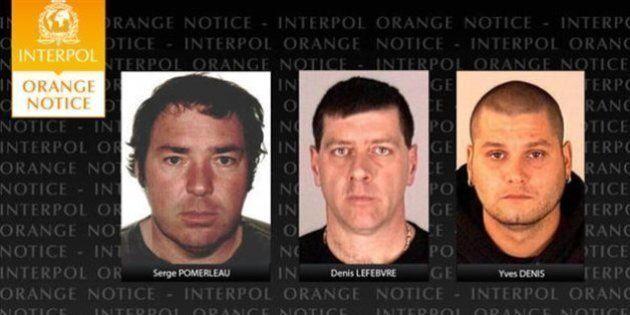 Alerte d'Interpol sur les trois évadés de