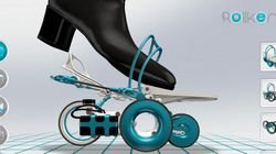 Rollkers: les patins à roulettes du futur s'exhibent au CES de Las Vegas