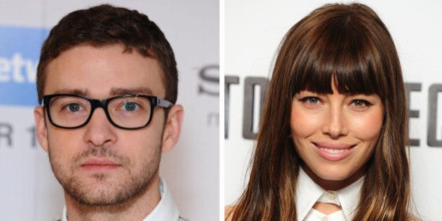 Undated file photos of Justin Timberlake and Jessica Biel who are suing the publishers of Heat