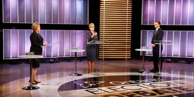 Élections en Ontario : les trois chefs croisent le fer au débat