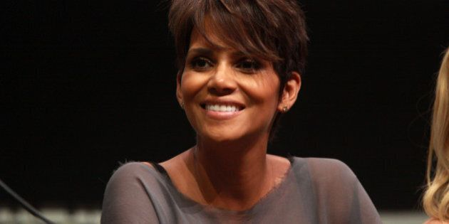 """Halle Berry speaking at the 2013 San Diego Comic Con International, for """"X-Men: Days of Future Past"""", at the San Diego Convention Center in San Diego, California.Please attribute to Gage Skidmore if used elsewhere."""