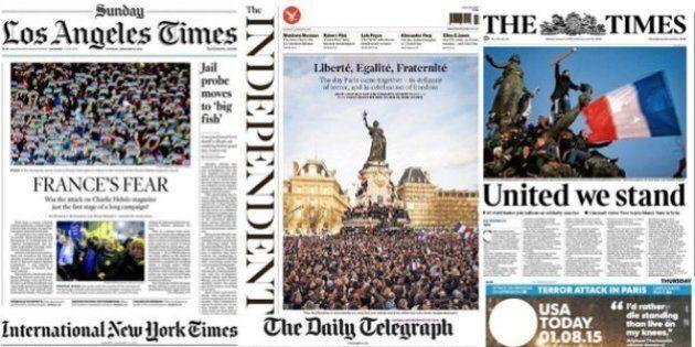 Marches en France: les unes de la presse française et étrangère