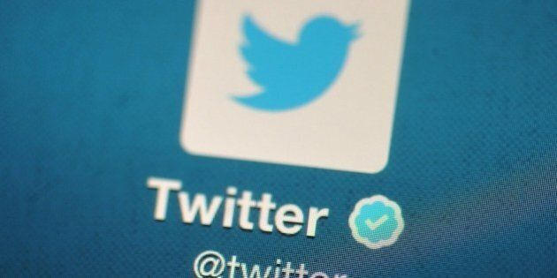 LONDON, ENGLAND - NOVEMBER 07: In this photo illustration, The Twitter logo is displayed on a mobile...