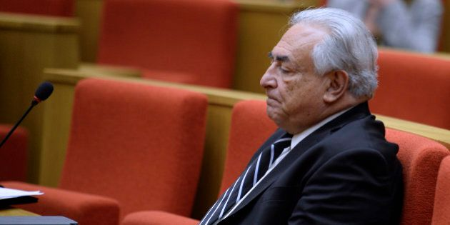 Former IMF chief Dominique Strauss-Kahn is pictured during a hearing before an investigation committee...