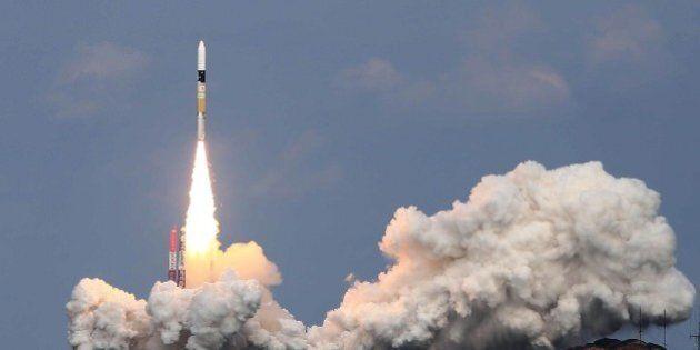 Japan's H-IIA rocket lifts off from the launch pad of the Japan Aerospace Exploration Agency (JAXA) Tanegashima...
