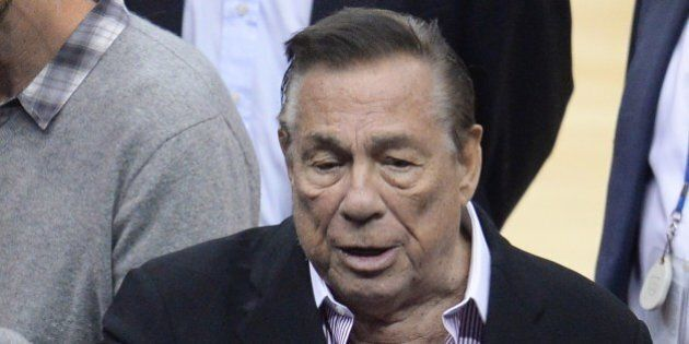 Los Angeles Clippers owner Donald Sterling attends the NBA playoff game between the Clippers and the...