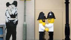 Voici Bricksy, les œuvres de Banksy en