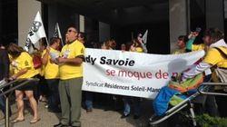 Manoir Sherbrooke : choqués par l'attitude d'Eddy Savoie, des employés manifestent