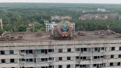 Vue par un drone, la désolation près de Tchernobyl donne froid dans le dos
