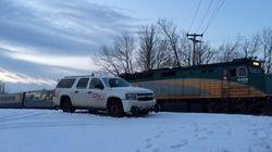 Un train du CN immobilisé en raison d'un vol à