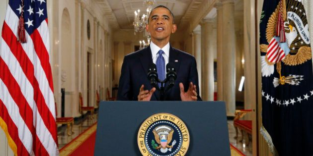 WASHINGTON, DC - NOVEMBER 20: U.S. President Barack Obama announces executive actions on U.S. immigration...