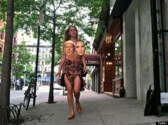 Scout Willis seins nus à New York pour dénoncer la censure du réseau social