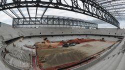 Stades de la Coupe du monde: le retard