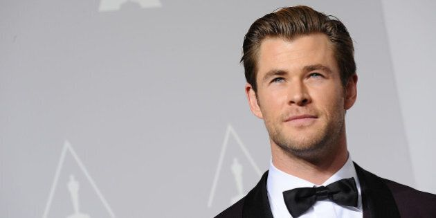 HOLLYWOOD, CA - MARCH 02: Actor Chris Hemsworth poses in the press room at the 86th annual Academy Awards...