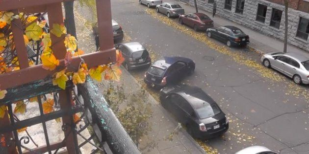 L'humoriste Simon Leblanc capte sur vidéo le pire stationnement en parallèle