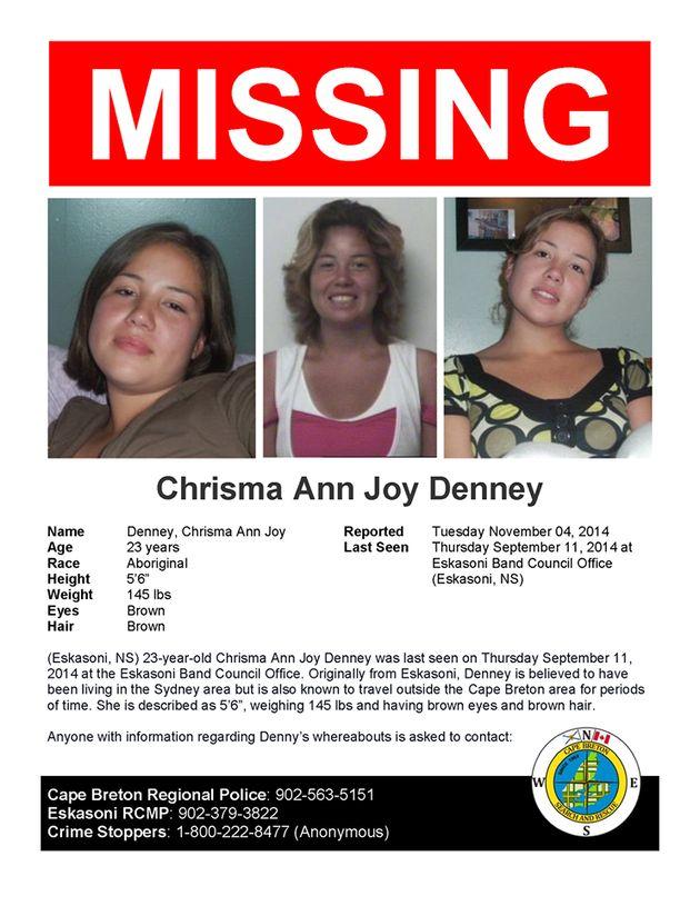 Nouvelle-Écosse: la police recherche une jeune femme autochtone disparue depuis deux mois