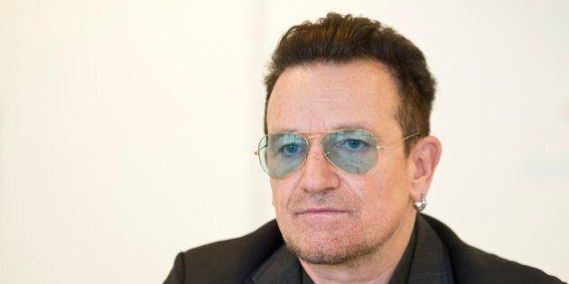 BERLIN, GERMANY - NOVEMBER 12: German Development Minister Gerd Mueller (not pictured) welcomes Bono (Paul David Hewson) to the Ministry of Development on November 12, 2014 in Berlin, Germany. (Photo by Michael Gottschalk/Photothek via Getty Images)