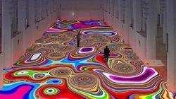 Maroc : un «tapis magique» de l'artiste Miguel Chevalier dans l'ancienne église du Sacré-Cœur à Casablanca
