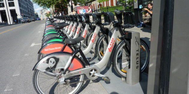 BIXI: moins de la moitié des vélos en