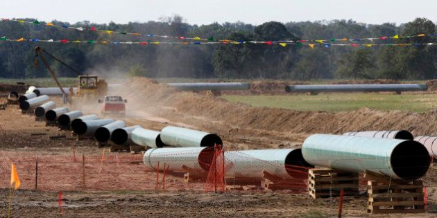 File - In this Oct. 4, 2012 file photo, large sections of pipe are shown in Sumner Texas. Safety regulators...