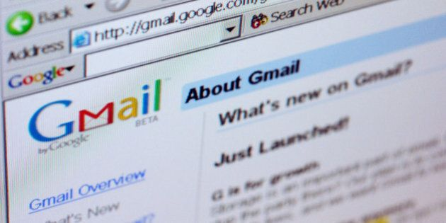 UNITED STATES - APRIL 01: The Gmail logo is pictured on the top of a Gmail.com welcome page in New York...