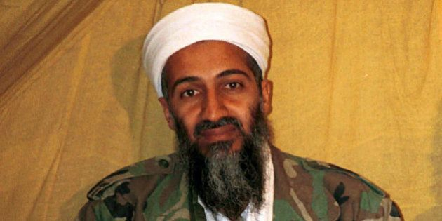 FILE - This undated file photo shows al Qaida leader Osama bin Laden in Afghanistan. Robert O'Neill,...