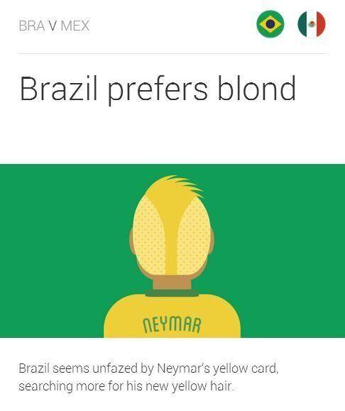 Mondial 2014: Neymar en blond pour le match Brésil -