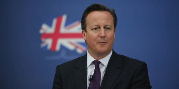 NEWCASTLE-UNDER-LYME, ENGLAND - MAY 02: British Prime Minister David Cameron launches the Conservative...
