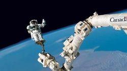 Retouche d'une photo du bras spatial: l'Agence spatiale canadienne reconnaît son