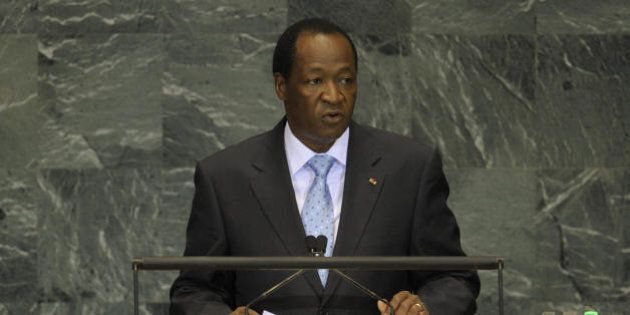 Burkina Fasso President Blaise Compaoré addresses the UN General Assembly at the United Nations headquarters...