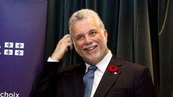Philippe Couillard inaugure une usine d'une filiale d'Hydro-Québec en