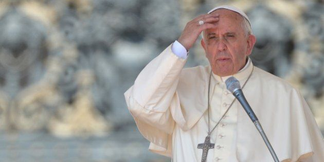 Pope Francis speaks during his general audience at St Peter's square on June 11, 2014 at the Vatican....