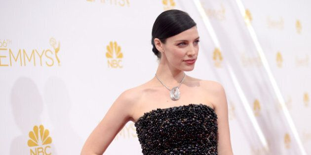 LOS ANGELES, CA - AUGUST 25:  66th ANNUAL PRIMETIME EMMY AWARDS -- Pictured: Actress Jessica Paré arrives to the 66th Annual Primetime Emmy Awards held at the Nokia Theater on August 25, 2014.  (Photo by Jason Kempin/NBC/NBC via Getty Images)