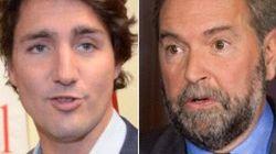 Toronto: Thomas Mulcair et Justin Trudeau en