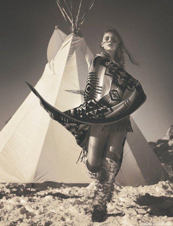 Heidi Klum accusée de racisme anti-Amérindiens pour une série de clichés sur Facebook