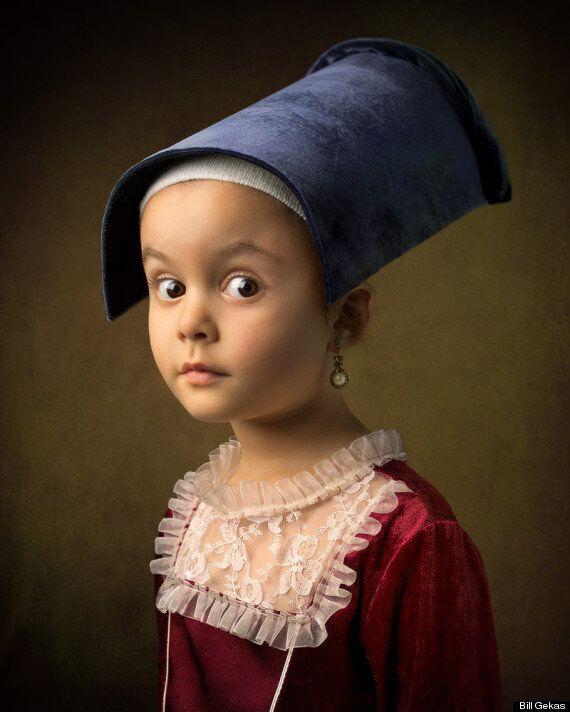 Bill Gekas rend hommage à la peinture en prenant sa fille de 5 ans comme modèle