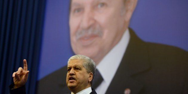 Outgoing Algerian premier and newly appointed Algerian president's campaign manager Abdelmalek Sellal...