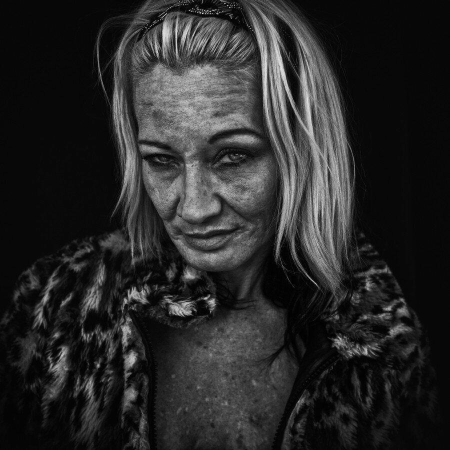 Des portraits montrent les itinérants sous leur vrai visage