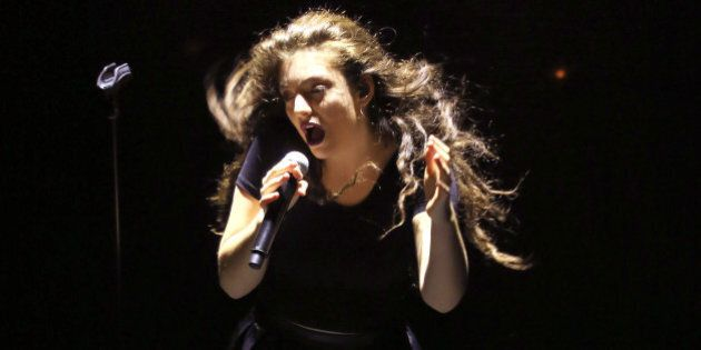 KANSAS CITY, MO - MARCH 21:  Singer Lorde performs at Arvest Bank Theatre at The Midland on March 21, 2014 in Kansas City, Missouri.  (Photo by Jason Squires/WireImage)