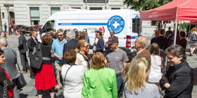 Une clinique mobile de Médecins du monde à Montréal
