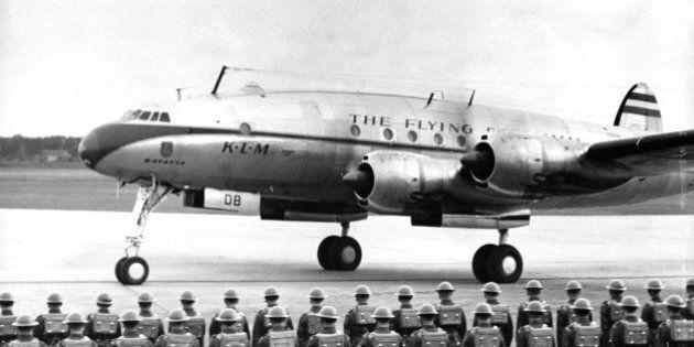 La compagnie aérienne KLM arrivait à Montréal il y a 65
