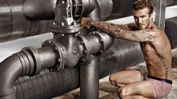 David Beckham en maillot de bain pour
