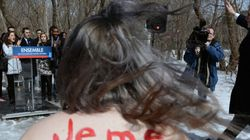 Des Femen rendent visite à Philippe Couillard
