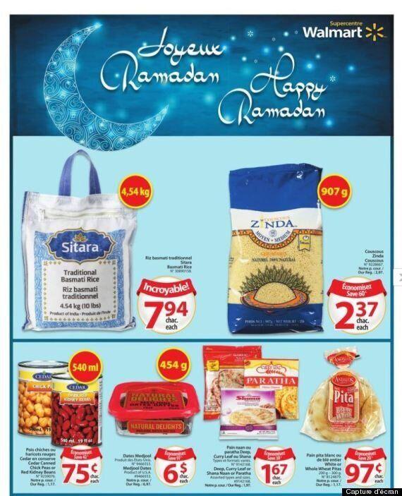 Walmart souhaite un joyeux Ramadan, mais oublie la