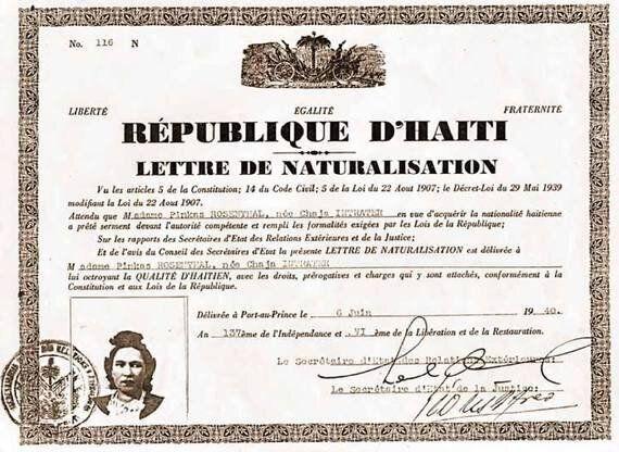 Une histoire haïtienne: 75e du décret-loi de l'année
