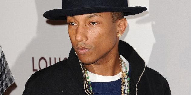 LOS ANGELES, CA - MARCH 29: Pharrell Williams attends the MOCA 35th anniversary gala celebration at The Geffen Contemporary at MOCA on March 29, 2014 in Los Angeles, California. (Photo by Jason LaVeris/FilmMagic)