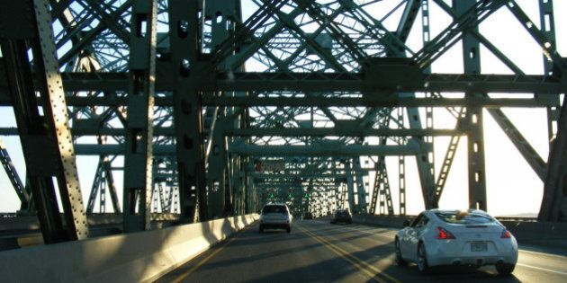 Crossing the St. Lawrence on the Champlain Bridge
