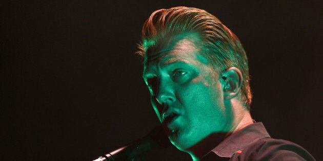 WELLINGTON, NEW ZEALAND - MARCH 20: Josh Homme of Queens of the Stone Age performs on stage at TSB Arena...