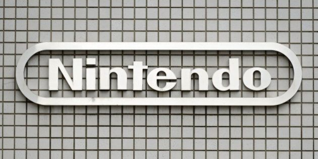The Nintendo Co. logo is displayed outside the company's offices in Tokyo, Japan, on Tuesday, Oct. 29,...