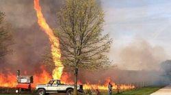 Une incroyable tornade de feu aux États-Unis